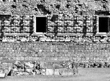 Chac masks Kabah Mayan Ruins Royalty Free Stock Images