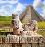 Chac Mool Chichen Itza figure Mexico Yucatan. Chac Mool Chichen Itza figure with tray on stomach Mexico Yucatan Stock Image