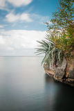 Chacachacare island Trinidad and Tobago peaceful tropical scene.  Stock Images