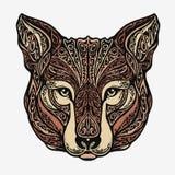 Chacal, coyote, loup ou chien ornementé ethnique Illustration de vecteur illustration libre de droits