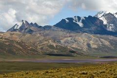 Chacaltaya Reichweite, Bolivien Stockbilder