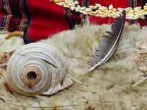 Chacana - vieux rituel indigène dans l'hommage à Pachamama Mather Earth images stock