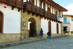 Chacas,秘鲁村庄  库存照片