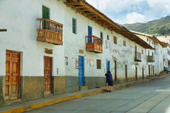 Chacas,秘鲁村庄  库存图片