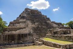 Chacchoben Mayan ruïneert J stock afbeeldingen