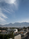 Chachani And Arequipa stock images