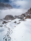 Chachani-Aufstieg Stockbild