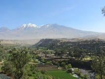 Chachanivulkaan Arequipa Stock Afbeeldingen