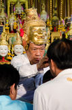 ChaChengSal,泰国- 2014年5月8日:未认出的老师和pu 免版税库存图片