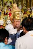 ChaChengSal, THAILAND - 8. Mai 2014: Nicht identifizierte Lehrer und PU Lizenzfreies Stockbild