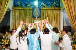 ChaChengSal THAILAND - Maj 8 2014: Oidentifierade lärare och pu Fotografering för Bildbyråer
