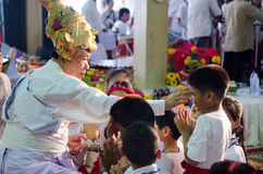 ChaChengSal,THAILAND - May 8 2014 : Unidentified Teachers and pu Stock Image