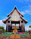 Chacheongchao,泰国8月23日2014年:佛教图象和宗教 库存照片