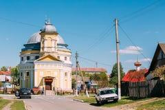Chachersk, Λευκορωσία Εκκλησία μεταμόρφωσης Ορθόδοξη Εκκλησία σε ηλιόλουστο Στοκ φωτογραφίες με δικαίωμα ελεύθερης χρήσης