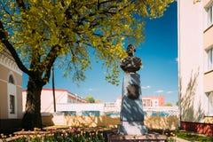 Chachersk, Belarus Monument pour compter Zakhar Chernyshov Or Tchernyshov Photo libre de droits