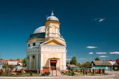 Chachersk, Bielorrusia Iglesia de la transfiguración Iglesia ortodoxa en Sunny Summer Day Fotos de archivo libres de regalías