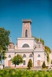 Chachersk, Bielorrusia Señal famosa - ciudad vieja Hall In Sunny Summer fotografía de archivo libre de regalías