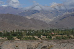 Chachi on the argentina andes. View of Nevado de Cachi Royalty Free Stock Image