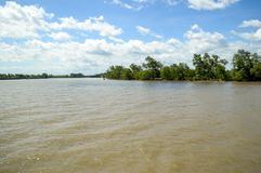 chachoengsao的泰国Bangprakong河 免版税图库摄影