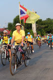 Chachoengsao, THAILAND - DECEMBER 11, 2015: Many people cycing in the event BIKE FOR DAD in chachoengsao, Thailand. Stock Photo