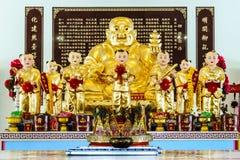 Chachoengsao, Thailand - 16. September: Skulptur von goldenem Gauta Lizenzfreies Stockbild