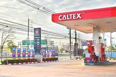 CHACHRENGSAO, THAÏLANDE - 4 FÉVRIER 2017 : une station service de Caltex Photos libres de droits