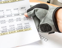 Chack income Stock Image