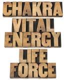 Chackra livsviktig energi, livstyrka Arkivfoto