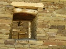 Chaco在窗口内的峡谷窗口 免版税库存图片