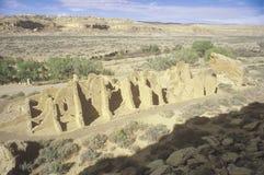 Chaco峡谷印地安废墟, NM,大约1060,印地安文明, NM中环中心  免版税库存照片