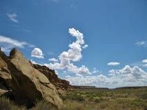 Chaco峡谷沙漠风景 免版税库存图片