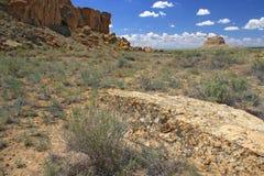 Chaco峡谷 图库摄影