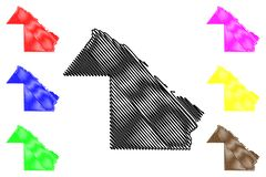 Chaco översiktsvektor vektor illustrationer