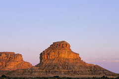 Chaco Canyon Butte Stock Image