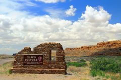 Chaco Canyon Entrance Sign, New Mexico stock photos