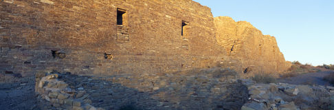 Chaco Canyon Indian Ruins, Sunset, New Mexico Royalty Free Stock Photo
