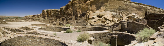 Chaco Canyon Ruins Stock Photo