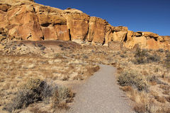 Chaco Canyon Trail Stock Photos