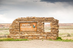 Chaco Culture National Historical Park Welcomig Sign Stock Image