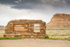 Chaco Culture National Historical Park Welcomig Sign Stock Photo