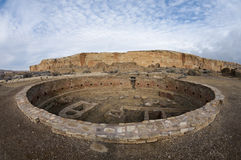 Chaco Culture National Park. Large Kiva at the Chaco Culture National Historic Park, New Mexico Royalty Free Stock Images