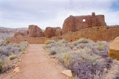 Chaco Culture ruins stock photography