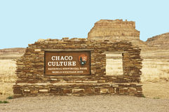 Chaco Culture sign Stock Image
