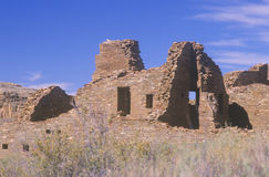 Chaco峡谷印地安废墟, NM,大约1060公元,印地安文明, NM中环中心  免版税库存照片