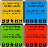 Chacun apporte le bonheur Photo libre de droits