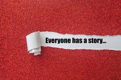 Chacun a une histoire images stock