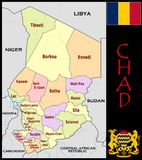 Chad Administrative divisions Royalty Free Stock Image
