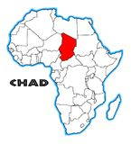 Chad Africa Map Images stock