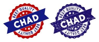 Chad Best Quality Stamp con stile di emergenza Fotografia Stock Libera da Diritti