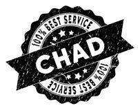 Chad Best Service Stamp con superficie graffiata Fotografie Stock
